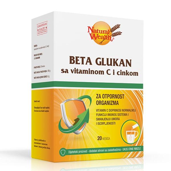 Natural Wealth Beta Glukan sa vitaminom C i cinkom