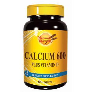 Natural Wealth Kalcijum 600 + Vitamin D