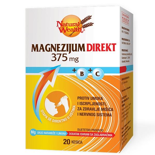NW MAGNEZIJUM 375g direkt sa vitaminom B i C, 20 kesica